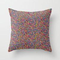 mosaic Throw Pillows featuring Mosaic by Juliana Kroscen