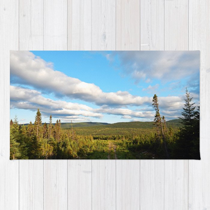 Big Skies over Mountain Trail Rug