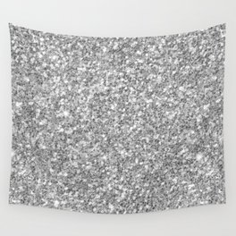 Silver Gray Glitter Wall Tapestry