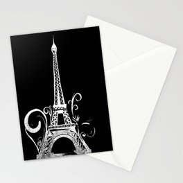 B&W Oh La La! Stationery Cards