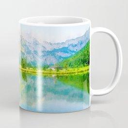 Lake reflections watercolor painting #5 Coffee Mug