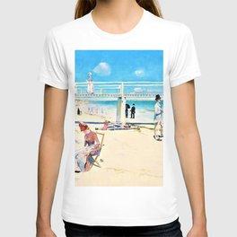 12,000pixel-500dpi - Charles Edward Conder - A holiday at Mentone - Digital Remastered Edition T-shirt