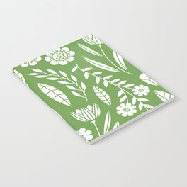Blooming Field - green Notebook