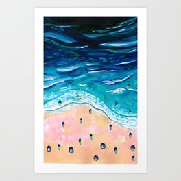 Above the surf Art Print