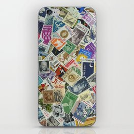 Vintage Postage Stamp Collection - 01 iPhone Skin