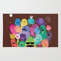 monsters inc Area & Throw Rugs featuring Monsters by Maria Jose Da Luz