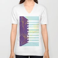 good vibes V-neck T-shirts featuring GOOD VIBES by Urban Artist