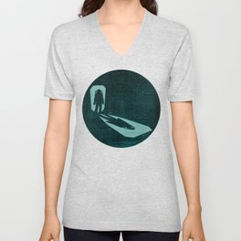 A door through space Unisex V-Neck