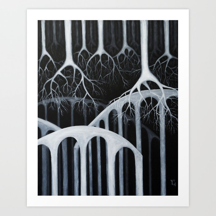 white forest Art Print