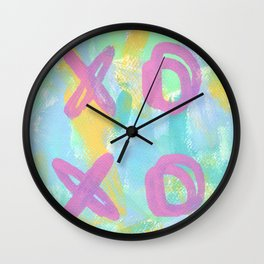 Everybody Is Somebody's Special love xoxo pop art typography Wall Clock