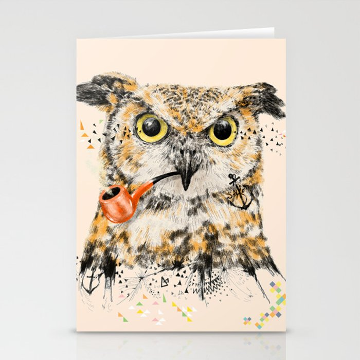 Mr.Owl II Stationery Cards