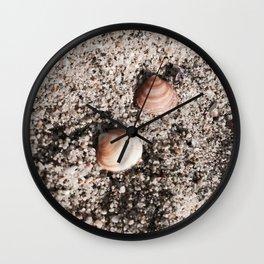 Shells and Sand Wall Clock