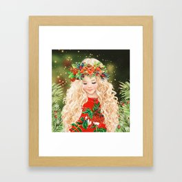 Little Merry Framed Art Print