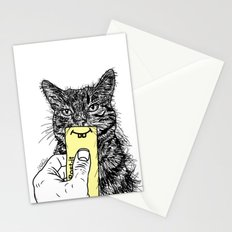 Cat Emoji - P0st it with a smile Stationery Cards