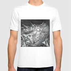 The Horned Lizard. Mens Fitted Tee White MEDIUM
