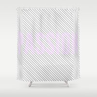 passion Shower Curtains featuring PASSION by Truth & Beauty Design