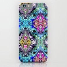 Neon Pinstripes 1 D iPhone 6s Slim Case