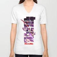 kill la kill V-neck T-shirts featuring Kill by feimyconcepts05