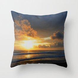 Clouds piercing Light Throw Pillow