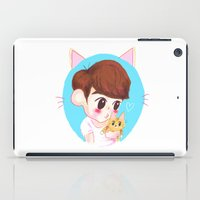 shinee iPad Cases featuring SHINee cat by sophillustration