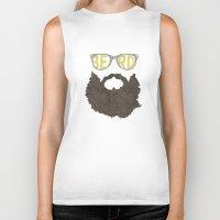 beard Biker Tanks featuring Beard by Pedro Barbosa