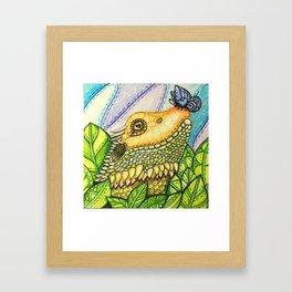 Irene's Bearded Dragon Square Framed Art Print