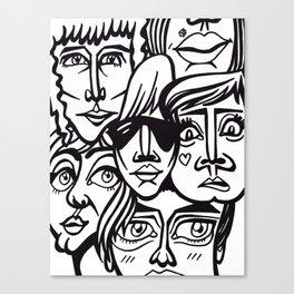 ヽ(゚▽゚*)乂(*゚▽゚)ノ Canvas Print