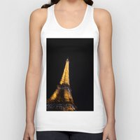 eiffel tower Tank Tops featuring Eiffel Tower by Emily Werboff