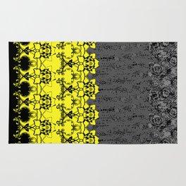 Damask Floral Texture Rug