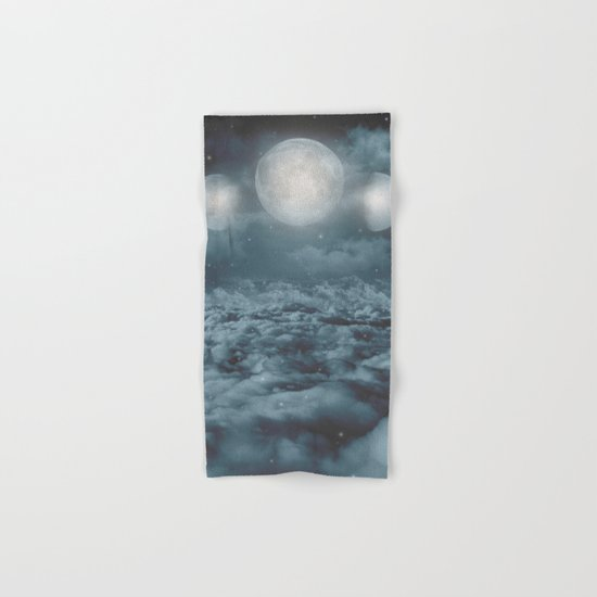 Uncertain. Alone. Cratered By Imperfections. (Loyal Moon) Hand & Bath Towel