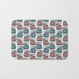 Cassette Tape Pattern Bath Mat