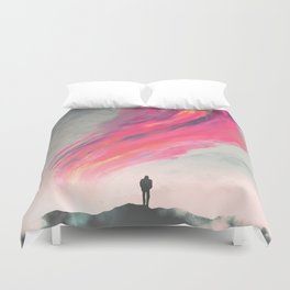 Where Fear Ends Duvet Cover