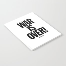 War Is Over - If You Want It -  John Lenon & Yoko Ono Poster Notebook