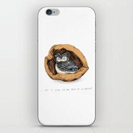 Belly of a Walnut iPhone Skin
