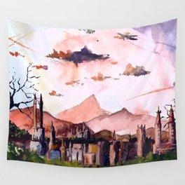 Ciudad de las Rosas Wall Tapestry