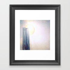 New York by Gehry Illustration Framed Art Print
