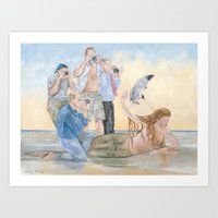 celebrity Art Prints featuring Celebrity by Mermaids