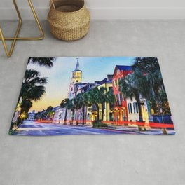 French Quarter at Dawn, Charleston, South Carolina Portrait Rug