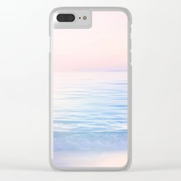 Dreamy Pastel Seascape 2. Blue & Nude #pastelvibes #Society6 Clear iPhone Case