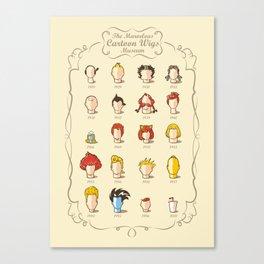 The Marvelous Cartoon Wigs Museum Canvas Print