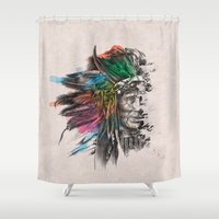 indian Shower Curtains featuring Indian  by mark ashkenazi