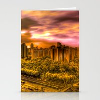 korea Stationery Cards featuring Sunrise in Korea by Anthony M. Davis