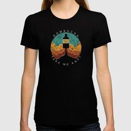 "KOMBUCHA ""Take Me Away"" Rocket // Mushroom Tea Graphic Design Scoby Health Drink Bubble Scooby T-shirt"