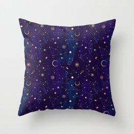 night of a thousand moons throw pillow