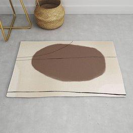 Coffee Abstract Art Rug
