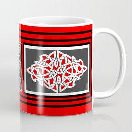 Red and Gray Diamond Knot Coffee Mug