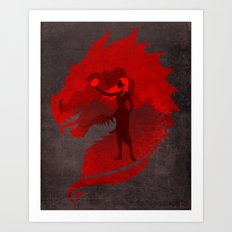 The Mother of Dragons Art Print
