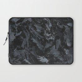 White Ink on Black Background #5 Laptop Sleeve