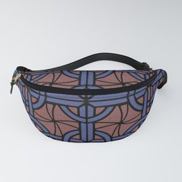 Stained Glass - Blue and Red Fanny Pack