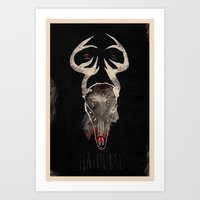 hannibal Art Prints featuring Hannibal by Messypandas